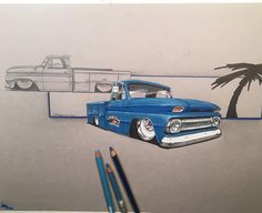 Just about done with the rendering for ol bluey . #ctp #c10talk #c10 #c20 #bagged #pacificcoastlocators ...