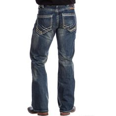 B. Tuff Men's Torque Relaxed Fit Med Wash Bootcut Jeans MTRQUE $59