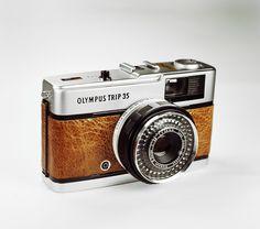 Vintage Olympus Trip 35 / BROWN Leather / LightBurn Film Camera / Street Camera / £49.99