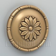 3D model for CNC routers and 3D printers (art. Round rosette 001)