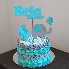 Super Ideas For Birthday Cake Buttercream Boy Elephant Baby Shower Cake, Elephant Cakes, Baby Shower Cakes For Boys, Baby Boy Cakes, Baby Boy Shower, Torta Baby Shower, Tortas Baby Shower Niña, First Birthday Cakes, Nautical Cake