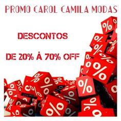♡ PROMOÇÃO CAROL CAMILA MODAS ♡  Descontos de 20% à 70% OFF ✂   #weloveit#amodesconto #promoção #desconto #megapromo #metadedopreço #euqueroo #imperdīvel #liquidação #promocarolcamilamodas #promofashion #promo #vemcomtudo #euqueroo #venhaseapaixonar #carolcamilamodas #querootudo