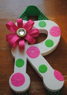 Big Top Circus Girl Hand Painted Initial Hair by NestofManyColors, $16.50