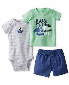 Carter's Baby Boys' 3-Piece Bodysuit, Tee & Diaper Cover Set