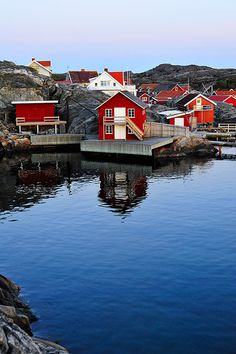 The small village Nordviksstrand at the Swedish west coast. Sunset and early summer Sweden Wonderful Places, Beautiful Places, Bósnia E Herzegovina, Kingdom Of Sweden, Visit Sweden, Images Of Colours, Scandinavian Countries, Montenegro, That Way