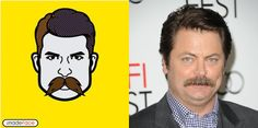 Nick Offerman | 28 Celebrity Portraits On iMadeFace