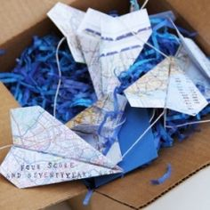 Another favorite,DIY paper airplane message in a box for Father's Day!