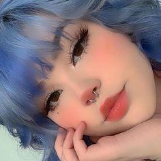 Edgy Makeup, Makeup Inspo, Makeup Inspiration, Hair Makeup, Makeup Ideas, Lolita Makeup, Punk Makeup, Anime Makeup, Baddie Makeup