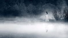 She is waiting for you to join her. All you have to do is walk slowly across the mist. Then she will be yours. #ghost #mist #swamp