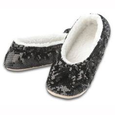 35389509b56 Snoozies Ballerina Bling Sequin Foot Coverings - Black – The Gift Spot