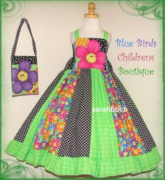 Daisy Groovy Flower Dress Purse  BBCB Boutique  not by sarahBBCB, $42.00