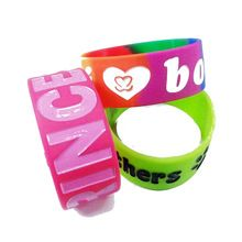 Custom Logo Party Fitness Sports Silicone Bracelet