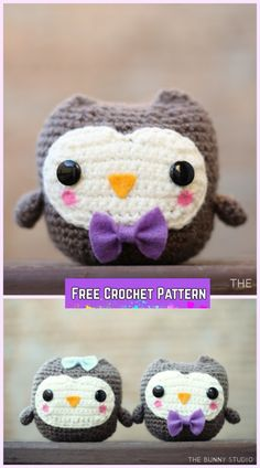 Crochet Owl Amigurumi Free Patterns