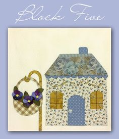 The Shabby   A Quilting Blog by Shabby Fabrics: Country Cottages Block 5 - Free Download!