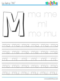 Aprender a formar sílabas con M + vocal. Hojas de trabajo gratis para aprender la formación de las sílabas. Descargar material educativo de lectoescritura.