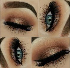 Love this golden brown makeup :)