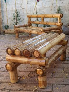 Bamboo Furniture – An Environmentally Friendly and Inexpensive Option Bamboo Sofa, Bamboo Art, Bamboo Crafts, Bamboo Furniture, Bamboo Fence, Recycled Furniture, Bamboo House Design, Bamboo Building, Bamboo Structure