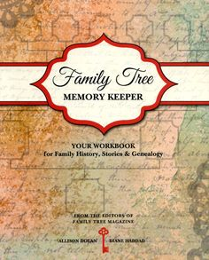 """""""Family Tree Memory Keeper""""—This workbook makes it easy to record and organize your family history by helping you keep track of basic genealogy information and special family memories, including traditions, heirloom histories, family records, newsworthy moments, family migrations and immigrations, old recipes, important dates, and much more."""