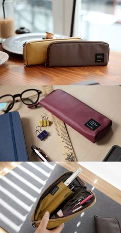 The Zip Up Pen Pocket knows how to organize your writing tools effectively and conveniently! Thanks to its slim design, this pen pocket is great to carry inside your bag!