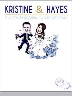 Wedding sign-in poster! Custom Artwork by Ashley Nicole Inc.  www.ashleynicoleinc.com