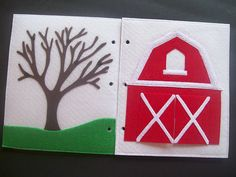 leaves & flowers for the tree, animal finger puppets in the barn