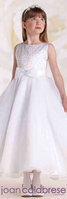 Joan Calabrese for Mon Cheri  - Style No. 115310 #flowergirldresses  calabresegirl.com