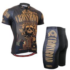 Life on track Technical Gold Skull Graphic Short Cycling Set Comfortable-fitting MTB Bike Tops Shirt W/ Padded Bicycle Shorts Cycling Jerseys, Cycling Bikes, Road Bikes, Road Cycling, Maillot Lakers, Lakers Shorts, Bicicletas Raleigh, Padded Shorts, Performance Bike