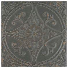 Merola Tile Saja Nero 13 in. x 13 in. Ceramic Floor and Wall Tile (12.2 sq. ft. / case), Nero/Mixed Finish