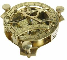 Antiques Ingenious Handmade Nautical Brass Sundial Compass Marine Vintage Compass Pocket Gift Maritime