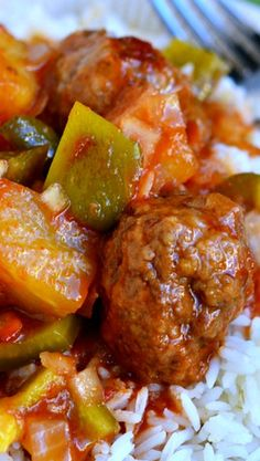 Grandma's Sweet & Sour Meatballs (Baking Sweet And Sour Chicken) Ground Beef Recipes, Pork Recipes, Asian Recipes, New Recipes, Dinner Recipes, Cooking Recipes, Favorite Recipes, Healthy Recipes, Recipies