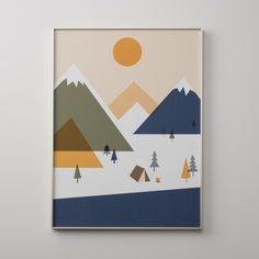 Cascadia Campground Print | Art | Accessories $60
