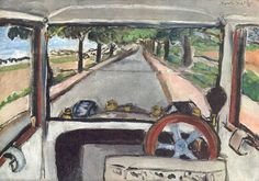 Henri Matisse. The Windshield. The Cleveland Museum of Art, Cleveland38 x 55 cm.1917