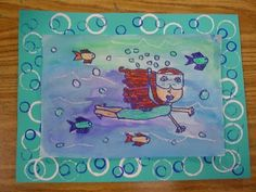 Underwater self portraits from Mrs. Knight's Smartest Artists