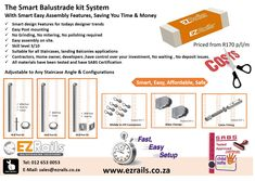 Assemble your affordable balustrade post kit your-self Save Time & Money in the process. Level 3, Smart Design, Save Yourself, Hand Tools, Cigar, Welding, Design Trends, Range, Stainless Steel
