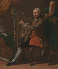 Nathaniel Dance RA, 1735–1811, British, Cristiano Giuseppe Lidarti and Giovanni Battista Tempesti, between 1759 and 1760, Oil on canvas, Yale Center for British Art, Paul Mellon Collection cropped to image, recto, unframed