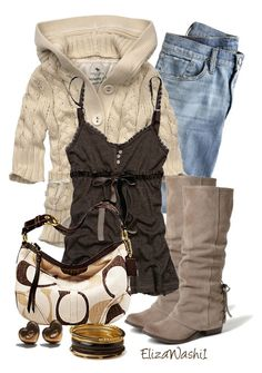 """""""Untitled #242"""" by elizawashi1 ❤ liked on Polyvore featuring J.Crew, Abercrombie & Fitch, Naughty Monkey, Coach, Pamela Love and Forever 21"""