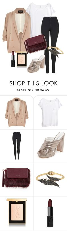 """night outfit three"" by emma-495 on Polyvore featuring River Island, H&M, Topshop, Jeffrey Campbell, Karen Millen, Betsey Johnson and NARS Cosmetics"