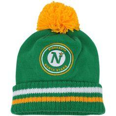 b725546d8cd73 Men s Minnesota North Stars Mitchell   Ness Green Vintage Big Man Hi-Five  Cuffed Knit Hat