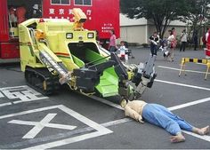 Robot ambulance for contaminated areas