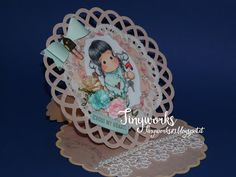 "TinyWorks: Card ""Cross my Heart"" DT Simply Magnolia"