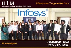 IITM Janakpuri | Congratulations to BCA final year (2014 – 17 batch) students for final placements in Infosys Technologies. Visit us to get the latest on IITM campus placements 2017- www.iitmipu.ac.in