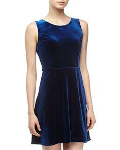 Velvet Fit & Flare Dress, Navy by Velvet by Graham & Spencer at Neiman Marcus Last Call.