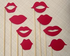 Mustache Party: photo booth lips