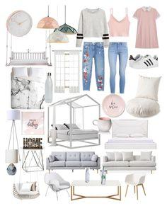 """Untitled #5"" by karolinakarolina-1 on Polyvore featuring interior, interiors, interior design, home, home decor, interior decorating, womb, Muuto, Gabby and ORE"