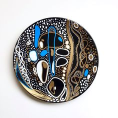 Bohemian Art Decor - Boho Art Decor - Decorative Plate - Wall Art - Wall Hanging - by biancafreitas on Etsy Plate Wall Decor, Art Decor, Decoration, Pottery Painting, Ceramic Painting, Handmade Wall Clocks, Sacred Geometry Art, Bohemian Art, Pottery Designs