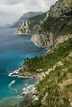 Panoramic view of the coast along the road to Positano