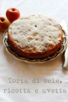 torta di mele con ricotta. torta de maçã com ricota...Eu colocaria uma boa pitada de canelaem pó sobre esta torta..Bridget