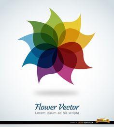 Fundo do arco-íris Flor - Download