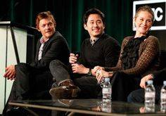 Norman Reedus, Steven Yuen, & Melissa McBride,  my three fave actors/actress on the show