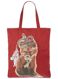 Red Fox shopper bag